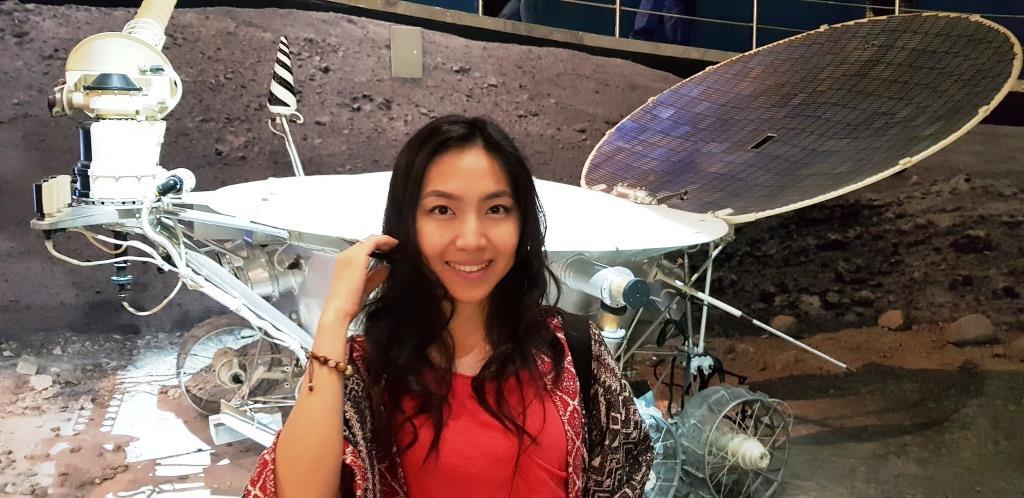 Айжан в Музее Космонавтики