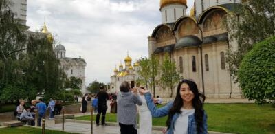 Идем в сторону Соборной площади Кремля