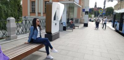На улице Ильинка рядом с Красной площадью