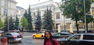 У здания Центробанка РФ на Неглинной